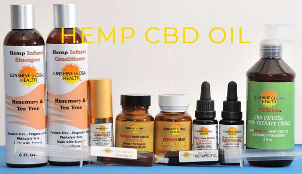 Cavinol CBD oil products